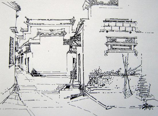 手绘建筑速写入门前
