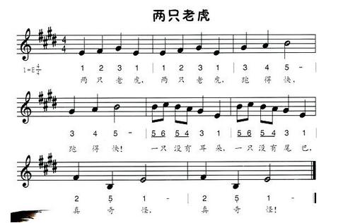 电子琴简谱