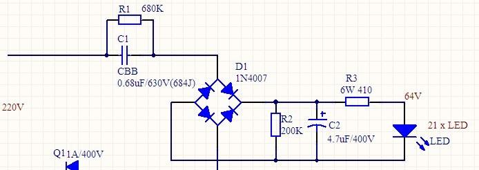 ——★2,电容降压电路实际上可以看成是限流电路.