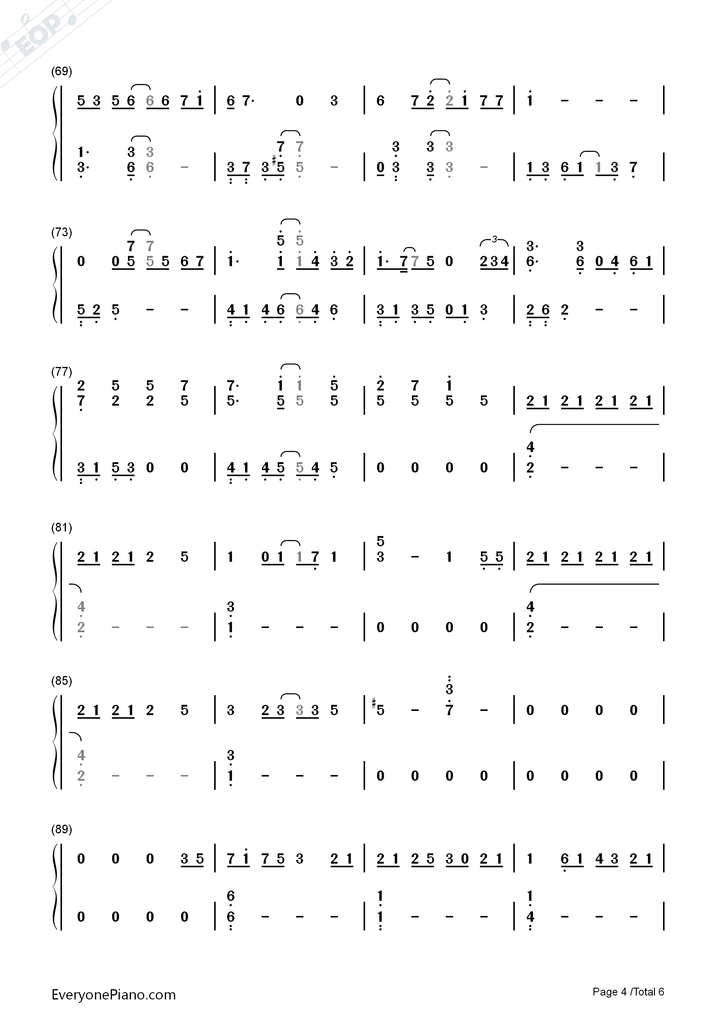 初音未来深海少女的钢琴谱要1234的那种