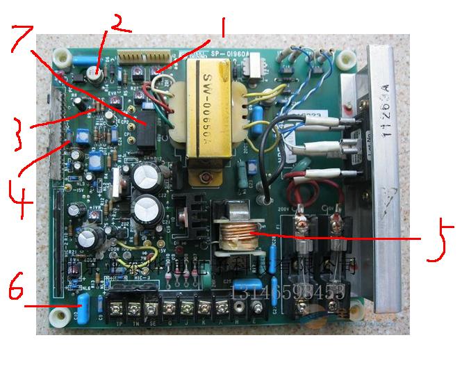 电路板部件名称