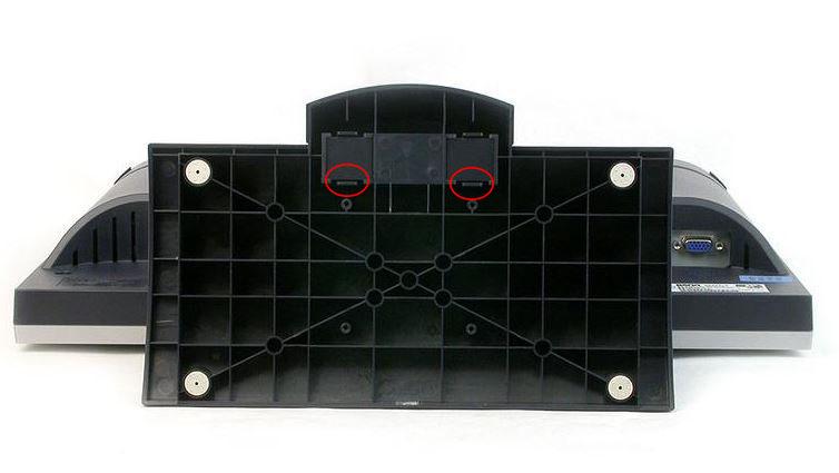 明基液晶显示器底座怎么拆的?