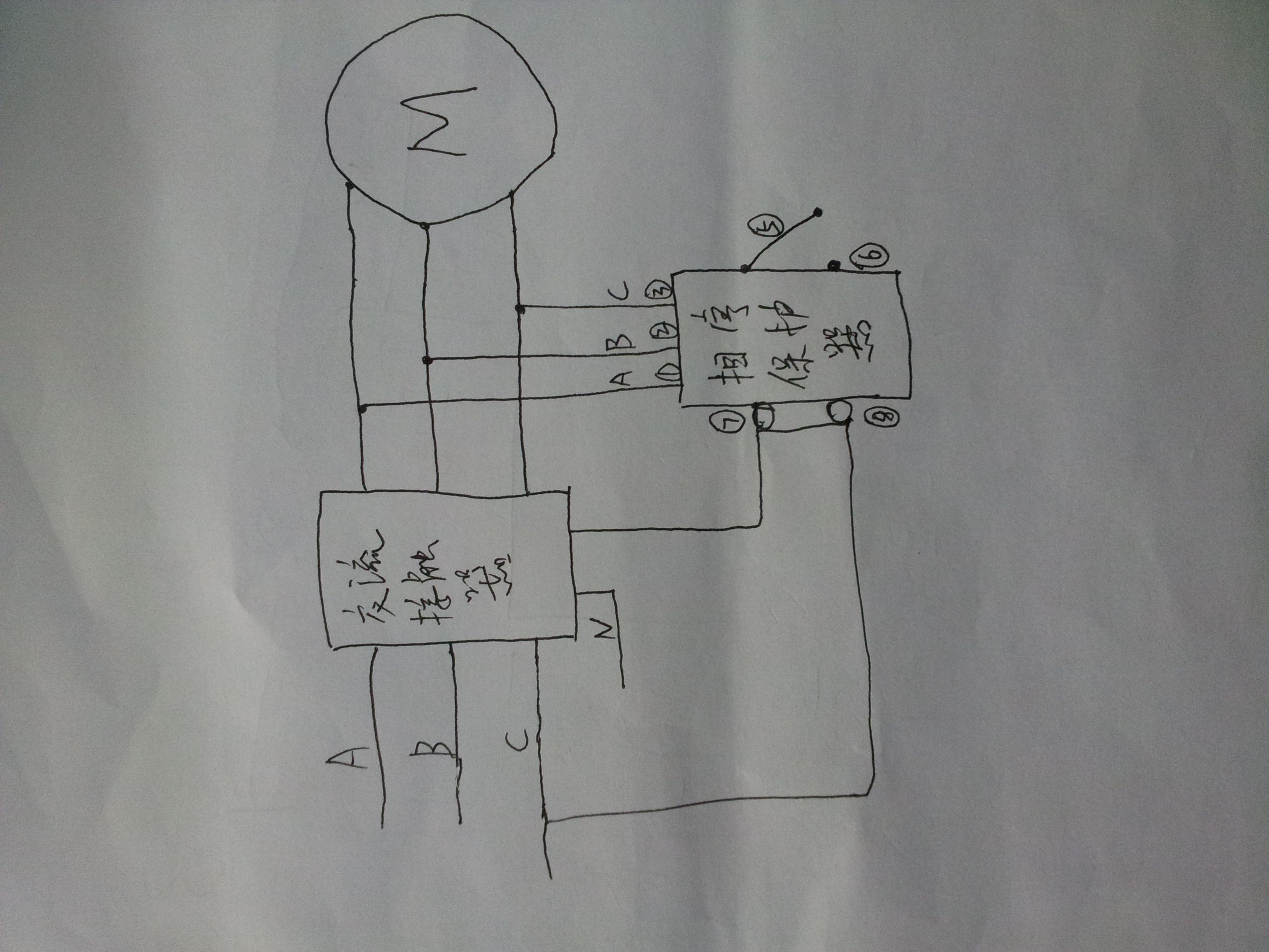 xj3-g断相与相序保护继电器接线怎么接?