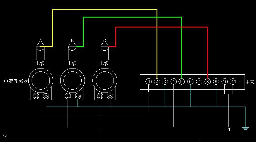 三相电度表接线图