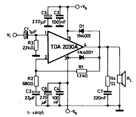 求简易扩音机的电路图