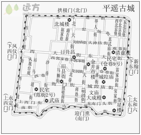 平遥古城 平面图