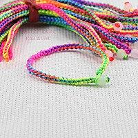 用2根塑料绳编手链 晨光卖的各种颜色的塑料绳