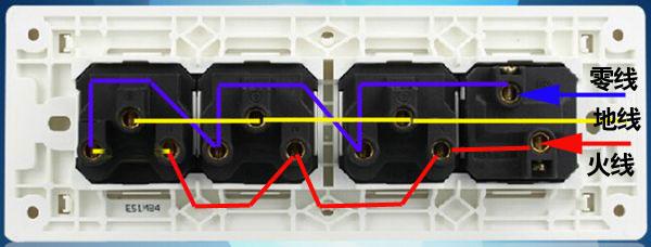 求教:这样的带开关插座面板如何接线呢?