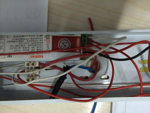 日光灯带应急电源改led灯管,灯管为t8! 有几张图,因为