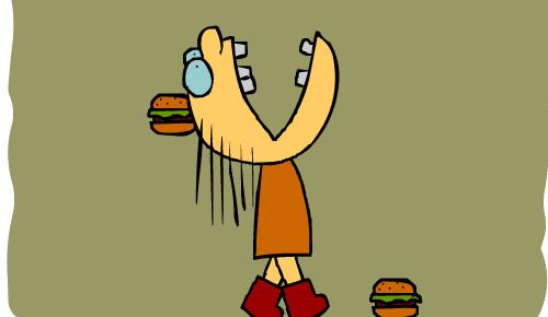吃不胖图片可爱文字