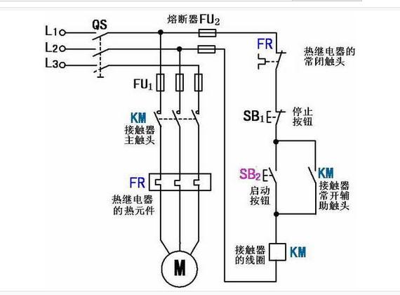220v交流接觸器接線圖.