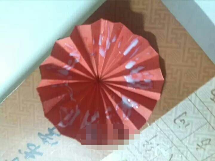 手工折纸能开能合小雨伞