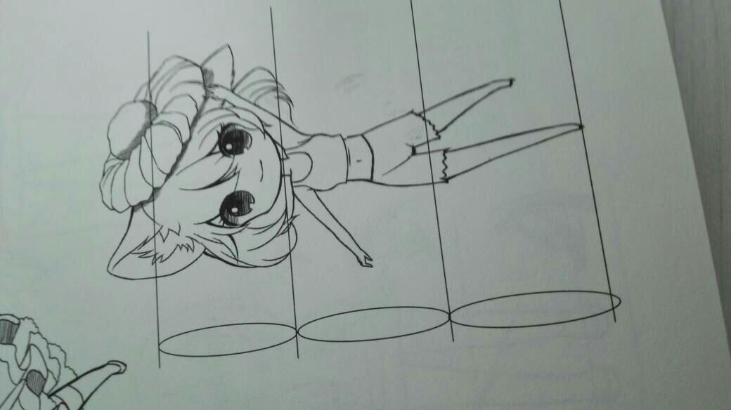 画动漫人物的时候怎么打比例,(求教程图解)