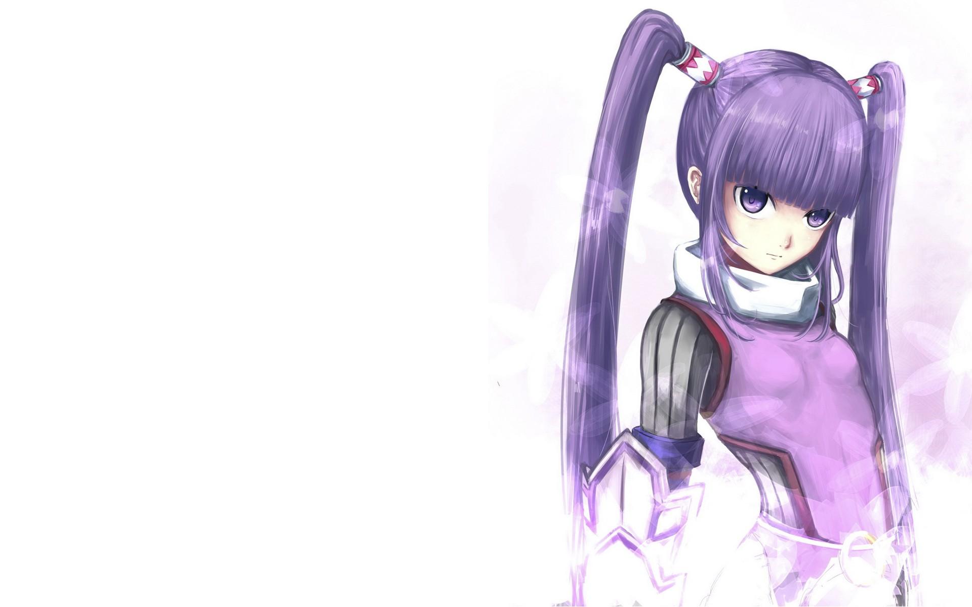 紫发双马尾动漫少女是谁