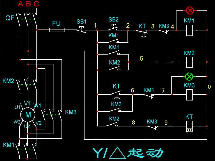 380v马达降压启动怎么接线图