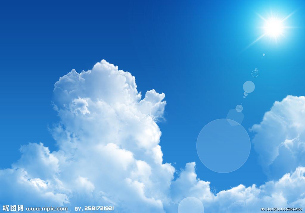 怎样用水粉颜料画这种阳光和淡淡的云