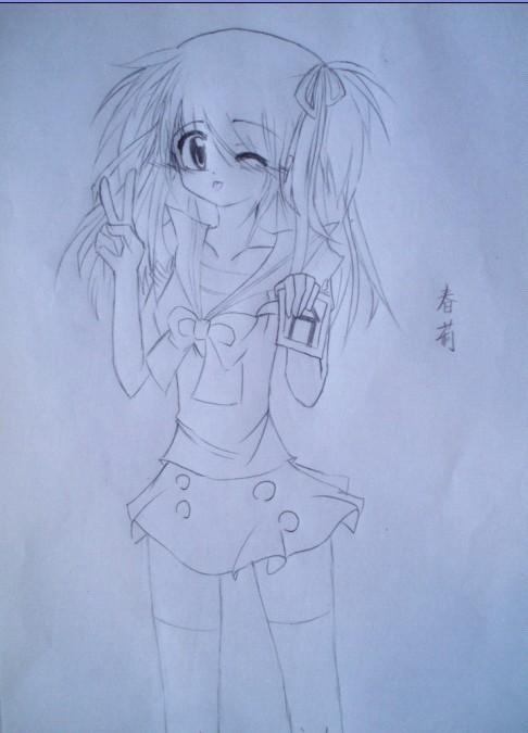 好看的手绘动漫画女生