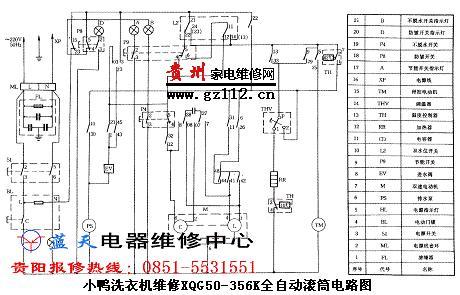请教专家回答小鸭滚筒xqg50-356k洗衣机电机接线图
