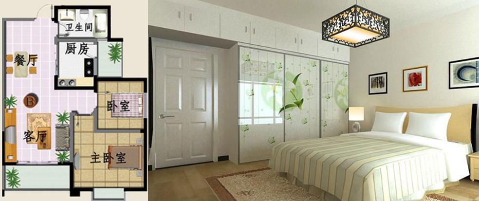卧室太小,想放1.8米大床怎么办?怎么布局合理?图片