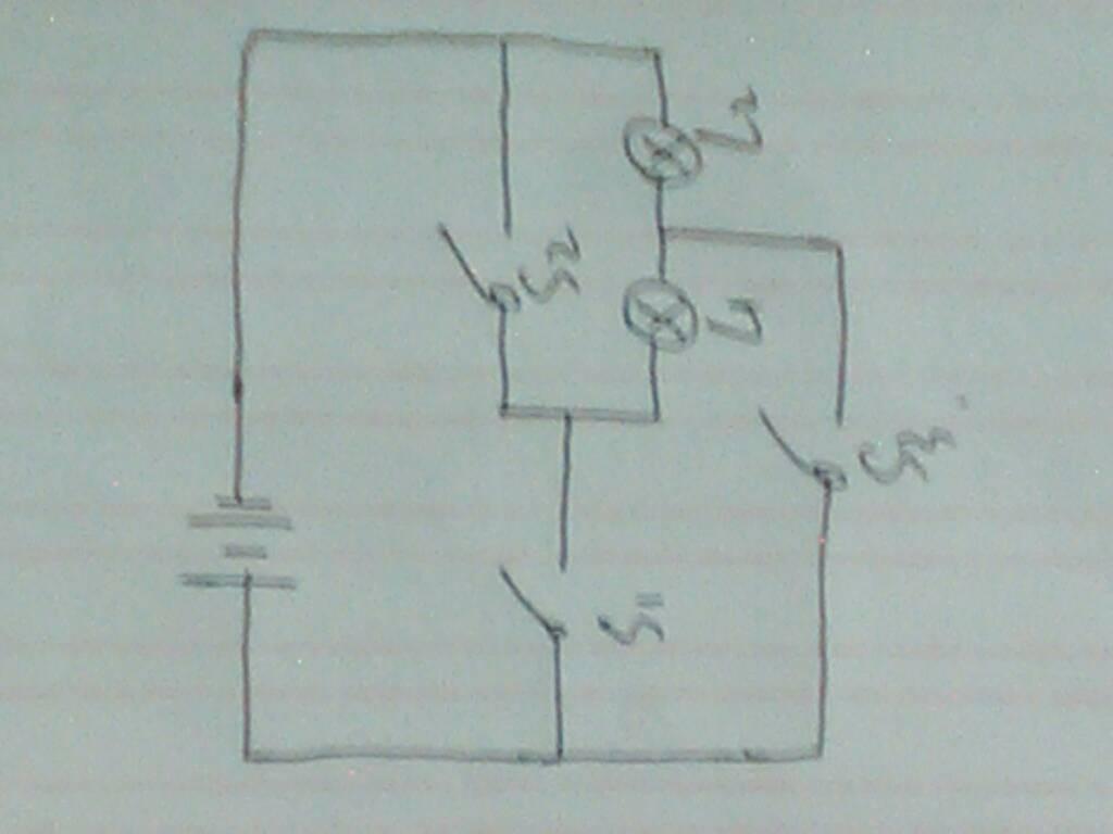 初三物理,以实物图画电路图