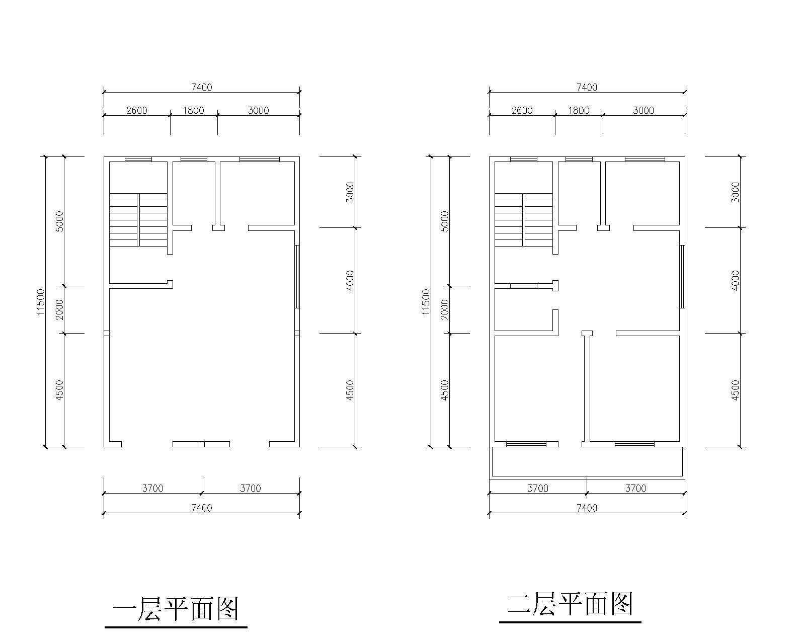 求助:80平自建房设计图纸及建筑结构图