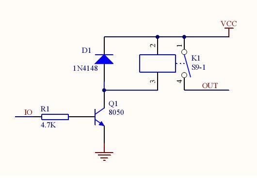求5v单片机驱动12v继电器的电路图