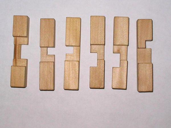 孔明锁6根解法