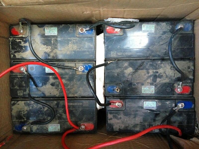 坐等大神解答电动车电池接线问题,如图,一搭线就碰火了… …请问是