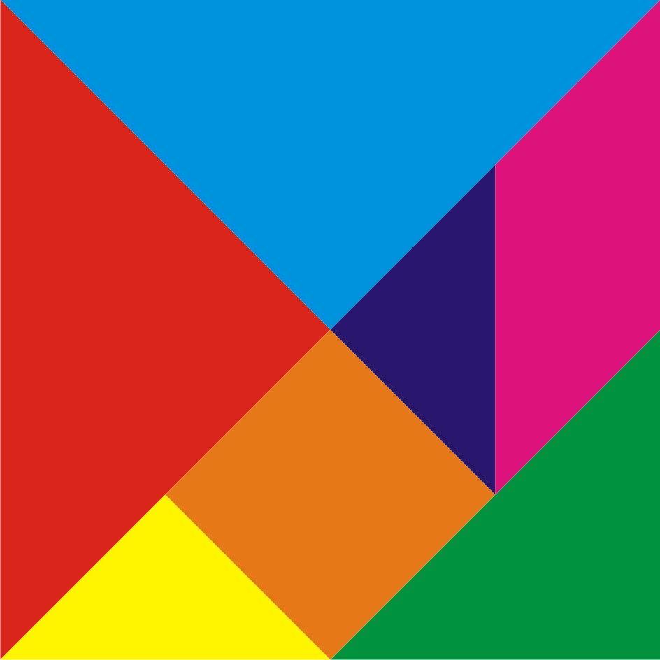 七巧板 哪三个图形可以拼成一个正方形?图片