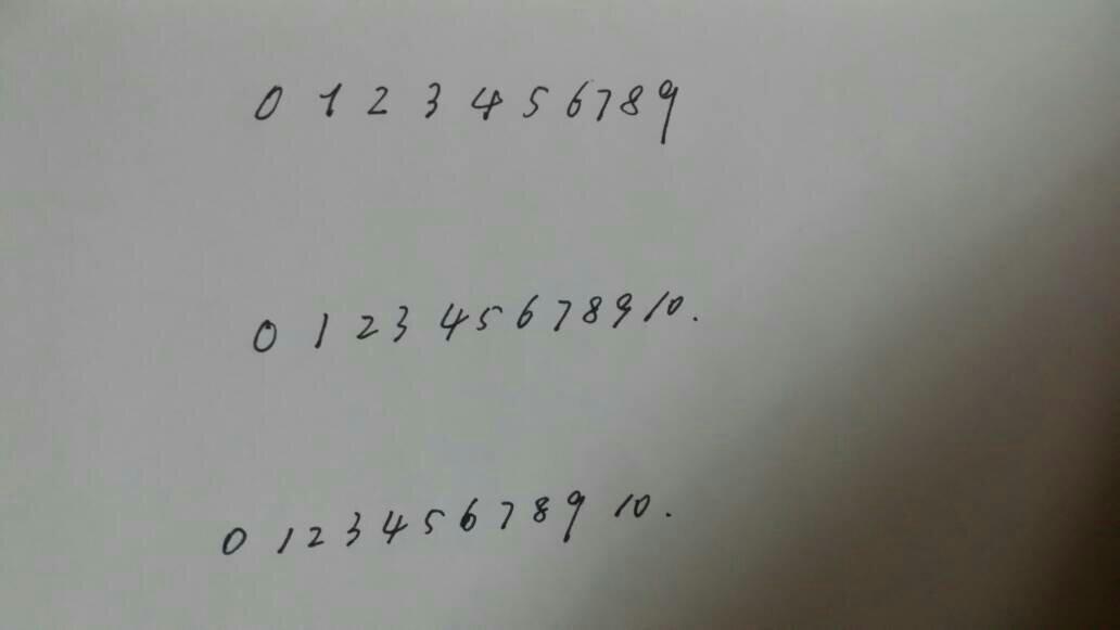 手写的0到9阿拉佰数字 行书的写法 不是行书 认为自己图片