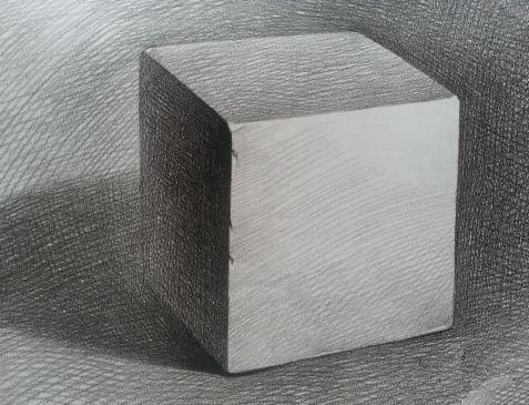 素描正方体.怎么画?