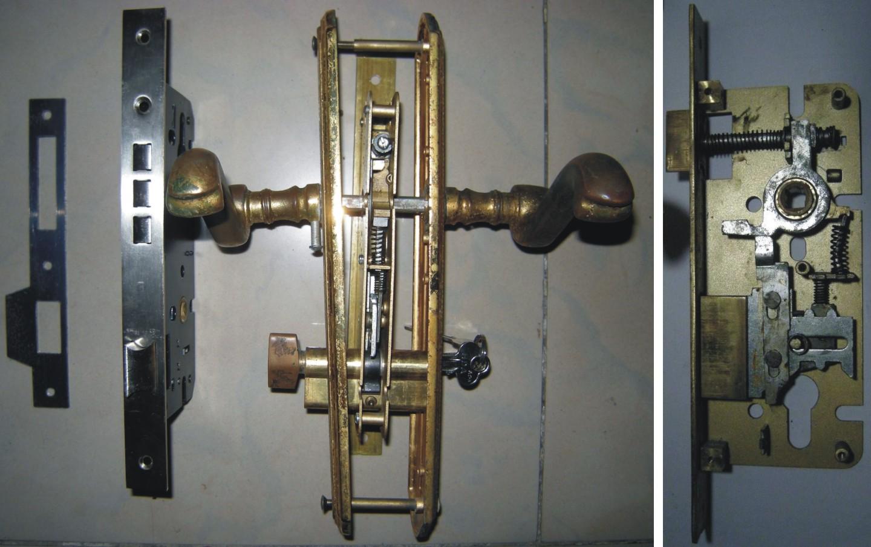 求室内执手门锁的锁体结构图