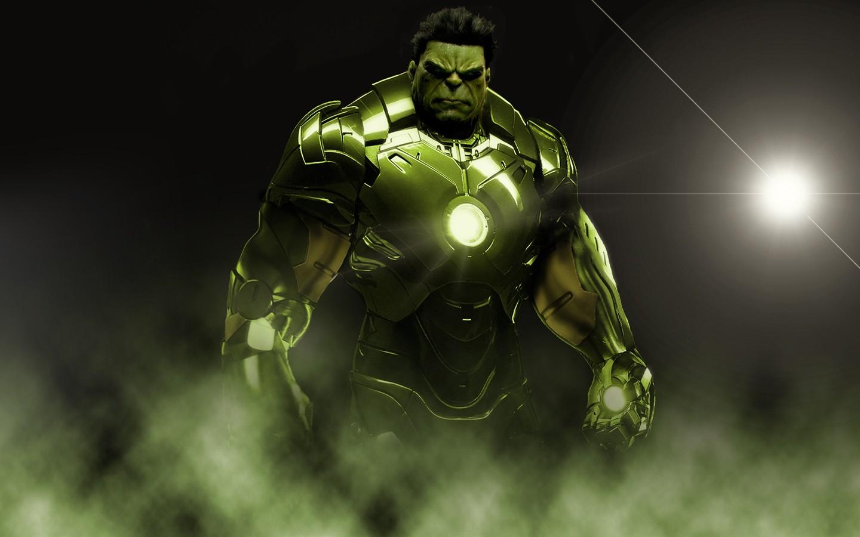我有一张绿巨人和钢铁侠合体的 喜欢就拿去