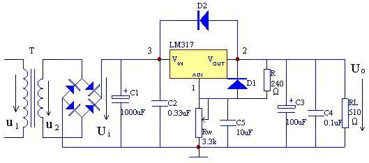 设计直流稳压电源,要有电路图的