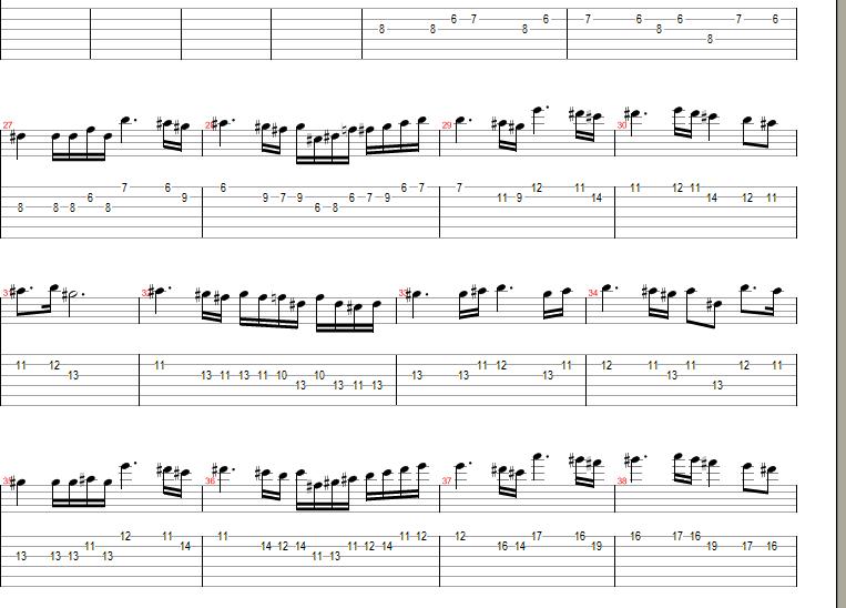 亡灵序曲solo谱子.是电吉他的.那位大仙有?谢谢.不要gtp的.