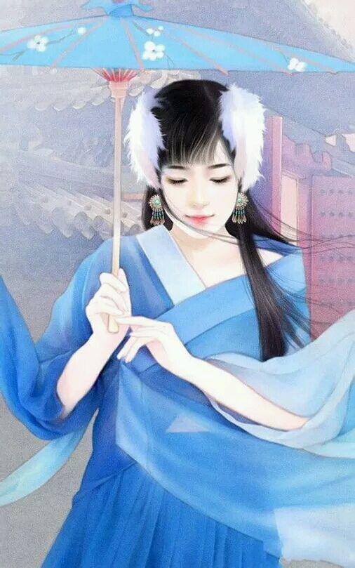 求古装手绘美女图,类似这样的,平刘海的,越多越好,谢谢!