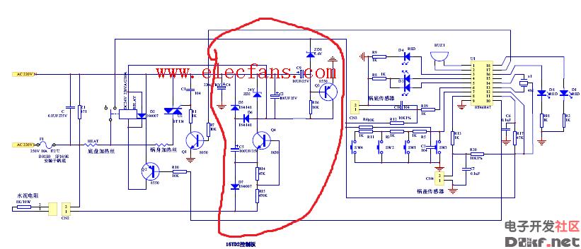 有谁能给讲讲这个电饭煲电路图