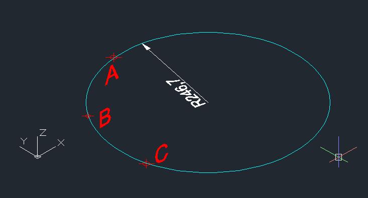 空间三点确定一个圆,求半径