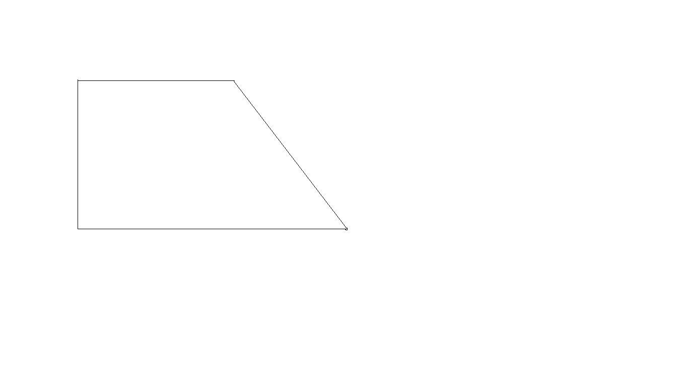 在下面的梯形中画2条线段,把它分成一个平行四边形,一图片