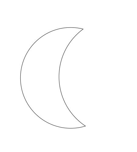 coreldraw中怎么画一个月亮