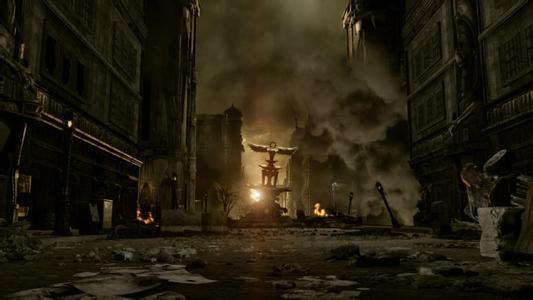求关于战争废墟的背景图,高清的,类似于这种的.或者有