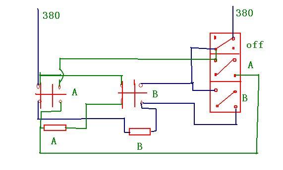 两个接触器互锁的电路图 画对了吗?