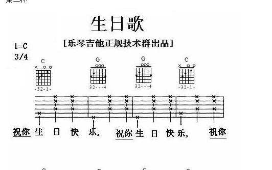 生日快乐吉他谱
