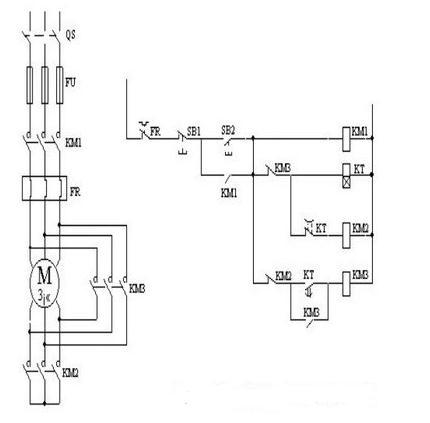 求一个电机正反转电路图