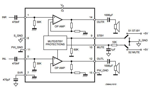 求tda7495s电路图