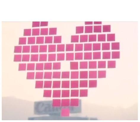 跪求用便利贴拼成心形的方法(《全城热恋》中的那种喔图片