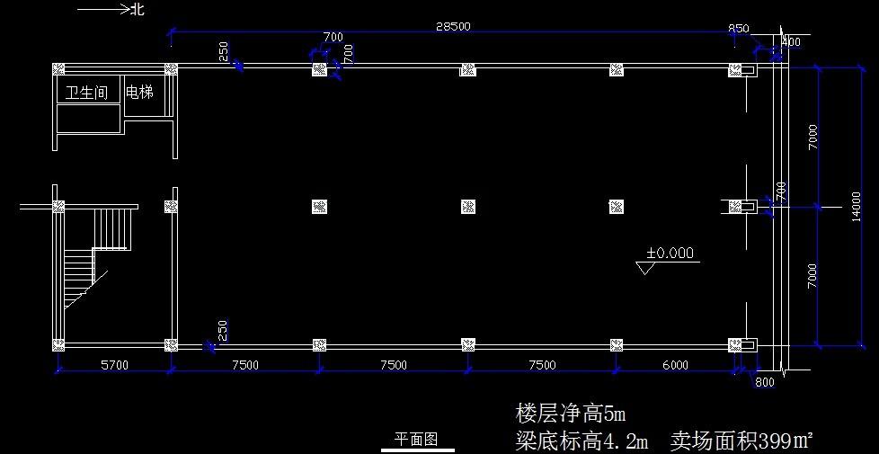 服装专卖店设计,根据这个平面图,怎样设计室内空间?