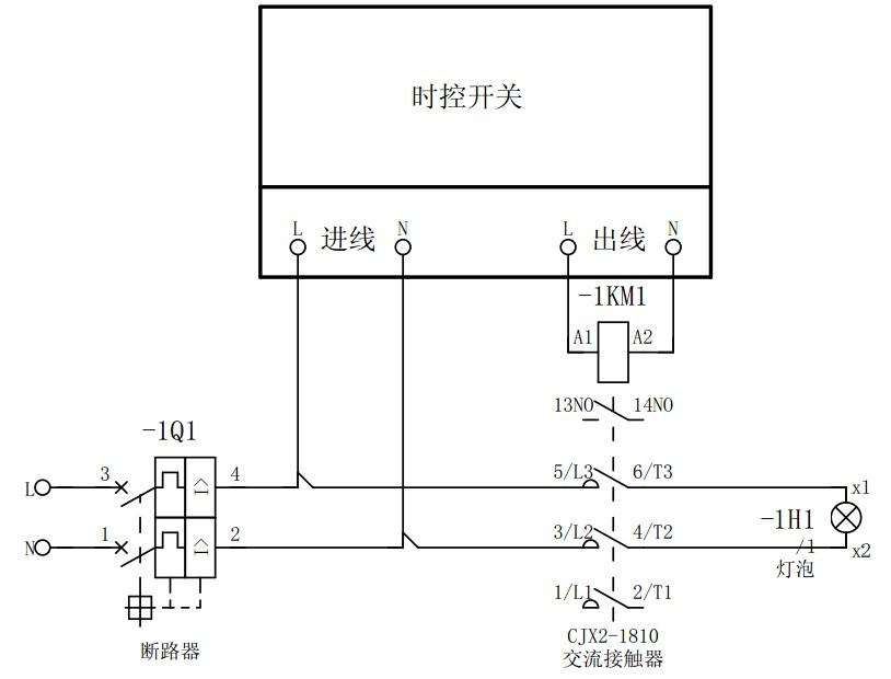 控制电路则是把交流接触器的线圈串联在按钮或控制开关电路的末端