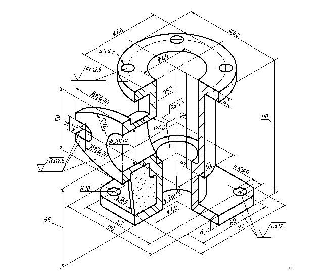 工程图 简笔画 平面图 手绘 线稿 641_544