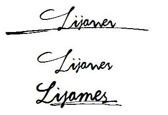 谁能帮忙设置下lijames好看的英文签名,最好签名的字体能粘贴性的!图片